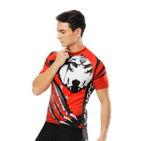 Wolverine Wolf Red Men's Cycling Short-sleeve Jersey Exercise Bicycling Pro Cycle Clothing Racing Apparel Outdoor Sports Leisure Biking Shirts Team Summer NO. 20NDX -  Cycling Apparel, Cycling Accessories | BestForCycling.com