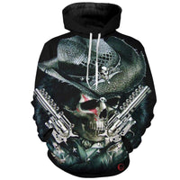 Cowboys Skull Black Hoodies Sweatshirt Long Sleeve Hooded Pullover with Pockets Spring Autumn NO.1305 -  Cycling Apparel, Cycling Accessories | BestForCycling.com