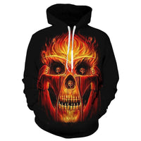 Savage Skull Black Hoodies Sweatshirt Long Sleeve Hooded Pullover with Pockets Spring Autumn NO.1316 -  Cycling Apparel, Cycling Accessories | BestForCycling.com