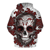 Red-cloud Skull Black Hoodies Sweatshirt Long Sleeve Hooded Pullover with Pockets Spring Autumn NO.1323 -  Cycling Apparel, Cycling Accessories | BestForCycling.com