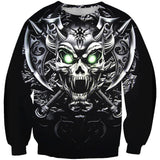 King of Terrors Skull Black Hooies Sweatshirt Long Sleeve Hooded Pullover with Pockets Spring Autumn NO.1324 -  Cycling Apparel, Cycling Accessories | BestForCycling.com