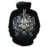 Queen Skull Yellow-flower Black Hoodies Sweatshirt Long Sleeve Hooded Pullover with Pockets Spring Autumn NO.1321 -  Cycling Apparel, Cycling Accessories | BestForCycling.com