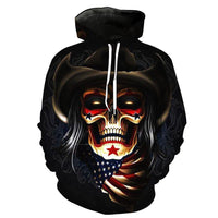 Clown Evil Skull Black Hoodies Sweatshirt Long Sleeve Hooded Pullover with Pockets Spring Autumn NO.1325 -  Cycling Apparel, Cycling Accessories | BestForCycling.com