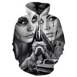 Girl Skull Black Hoodies Sweatshirt Long Sleeve Hooded Pullover with Pockets Spring Autumn NO.1329 -  Cycling Apparel, Cycling Accessories | BestForCycling.com