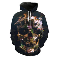 Animal World Black Hoodies Sweatshirt Long Sleeve Hooded Pullover with Pockets Spring Autumn NO.1333 -  Cycling Apparel, Cycling Accessories | BestForCycling.com