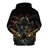 Cowboy Skull Black Hoodies Sweatshirt Long Sleeve Hooded Pullover with Pockets Spring Autumn NO.1335 -  Cycling Apparel, Cycling Accessories | BestForCycling.com