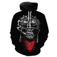 Cigar Chimpanzee Black Hoodies Sweatshirt Long Sleeve Hooded Pullover with Pockets Spring Autumn NO.1336 -  Cycling Apparel, Cycling Accessories | BestForCycling.com
