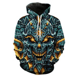 Angry Skull Black Hoodies Sweatshirt Long Sleeve Hooded Pullover with Pockets Spring Autumn NO.1337 -  Cycling Apparel, Cycling Accessories | BestForCycling.com