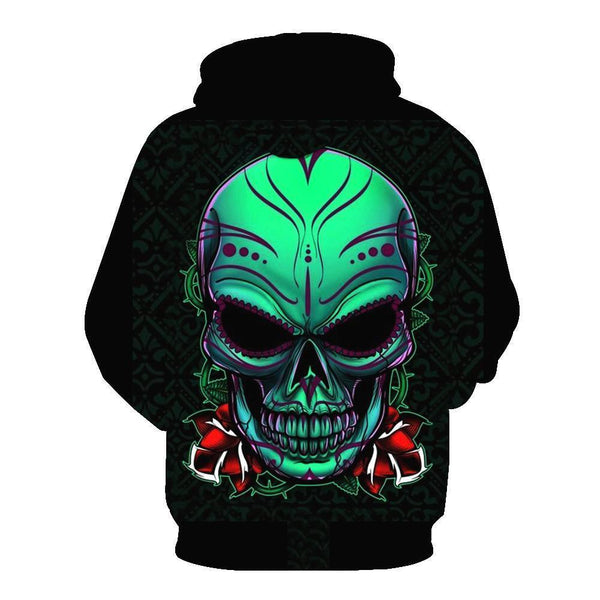 Insidious Skull Black Hoodies Sweatshirt Long Sleeve Hooded Pullover with Pockets Spring Autumn NO.1338