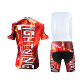 Ilpaladino Thunderstorm Flashing Lightning Storm Natural Phenomenon Red Cycling Short-sleeve Suit /Jersey Exercise Bicycling Pro Cycle Clothing Racing Apparel Outdoor Sports Leisure Biking Shirts Team Kit NO.624 -  Cycling Apparel, Cycling Accessories | BestForCycling.com