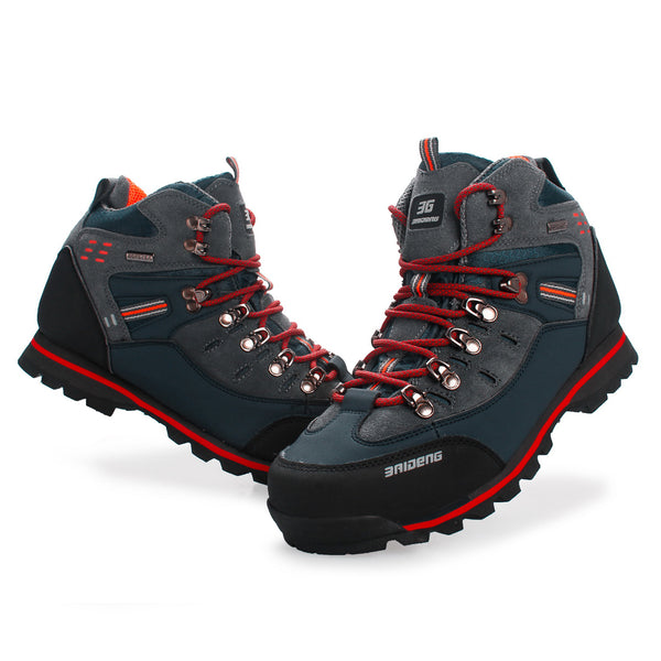 Mens Leather Outdoor High Shoes Hiking Climbing Running Sports Windproof Waterproof Sandproof NO.8037