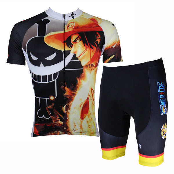 NE PIECE Series Pirates Men's Cycling Jersey/Suit Team Leisure Jacket T-shirt Summer Spring Autumn Clothes Sportswear Anime Ace NO.140 -  Cycling Apparel, Cycling Accessories | BestForCycling.com