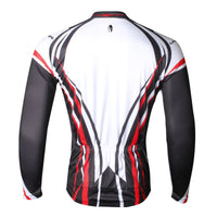 Men's Cycling Long-sleeved Jersey Autum Fashion Cycling Suit Cycling Bibtight Trouser Black and White  Quick Dry Sportswear(velvet) NO.711 -  Cycling Apparel, Cycling Accessories | BestForCycling.com