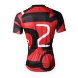 Number 2 TWO Red&Black Men's Cycling Jersey Red Cycling Short Summer Bike T-shirt NO.742 -  Cycling Apparel, Cycling Accessories | BestForCycling.com