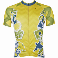 ILPALADINO Men's Cycling Apparel World Cup Games Pattern Football Fans Fashionable and Breathable Bike Riding  Short Sleeve Shirt NO.152 -  Cycling Apparel, Cycling Accessories | BestForCycling.com