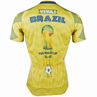 Yellow Men's Cycling Jersey World Cup Games Pattern Football Fans Short Sleeve Shirt NO.152 -  Cycling Apparel, Cycling Accessories | BestForCycling.com