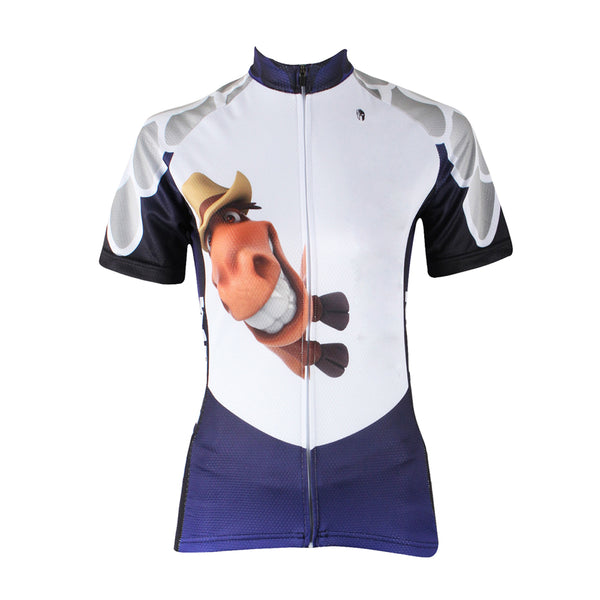 Buck Teeth Horse Womens Cycling Jersey Bike Bicycling Summer Pro Cycle Clothing Racing Apparel Outdoor Sports Leisure Biking Shirts Breathable and Comfortable NO.157 -  Cycling Apparel, Cycling Accessories | BestForCycling.com