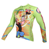 Ilpaladino Popeye Spinach Men's Bicycling Long/Short-sleeve Jersey/Suit Summer Spring Autumn Exercise Bicycling Pro Cycle Clothing Racing Apparel Outdoor Sports Leisure Biking Shirts The Sailorman Cartoon World -  Cycling Apparel, Cycling Accessories | BestForCycling.com