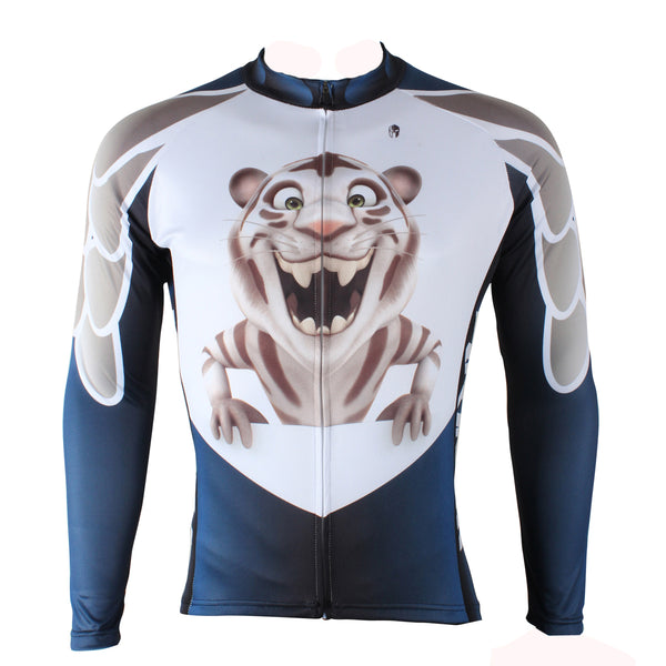 Ilpaladino Little Tiger Men's Long/Short-sleeve Cycling Bike jersey T-shirt Summer Spring Autumn Road Bike Wear Mountain Bike MTB Clothes Sports Apparel Top NO.166