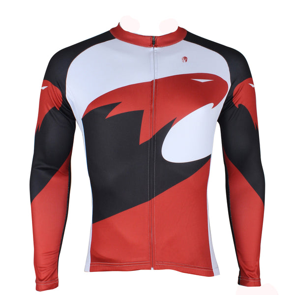 Hot Sale Outdoor Cycling Clothing White and Red Cycling Jersey Wholesale Men's Long-sleeved Jersey for Spring and Summer Red,Black and White Bike Jersey(velvet) NO.172 -  Cycling Apparel, Cycling Accessories | BestForCycling.com