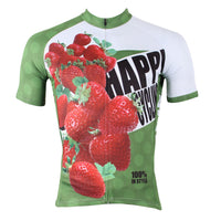 Happy Cycling Summer Fruit Strawberry Men's Short/Long-Sleeve Cycling Jersey NO.174 -  Cycling Apparel, Cycling Accessories | BestForCycling.com