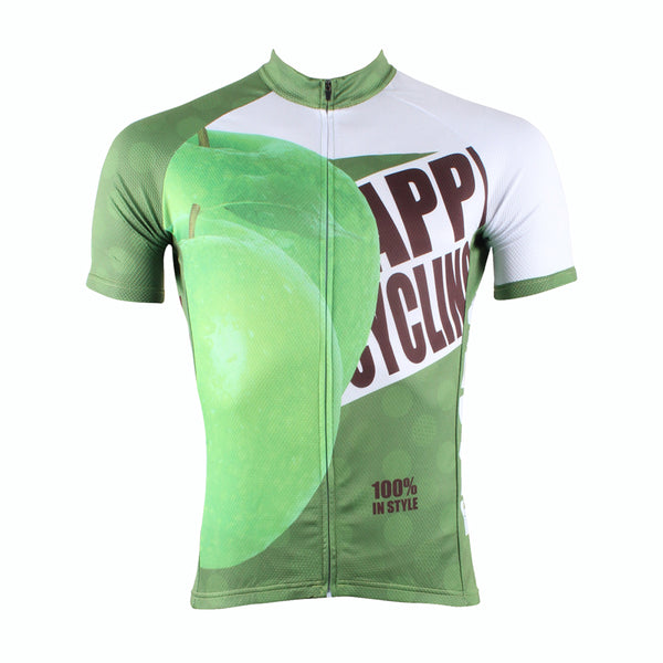 Happy Cycling Summer Fruit Green Apple Men's Short-Sleeve Cycling Jersey Suit Biking Wear Breathable Outdoor Sports Gear Leisure Biking T-shirt Sports Clothes NO.175 -  Cycling Apparel, Cycling Accessories | BestForCycling.com