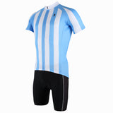 Football Style Red/ Blue White Stripes Short-Sleeve Cycling Suit Jersey Team Kit -  Cycling Apparel, Cycling Accessories | BestForCycling.com