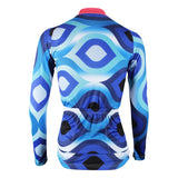 ILPALADINO Women's Long Sleeves Blue Pink-collar Cycling Jersey Apparel Outdoor Sports Gear Leisure Biking T-shirt 182 -  Cycling Apparel, Cycling Accessories | BestForCycling.com