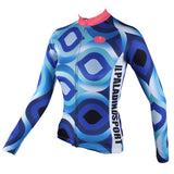 Scrollwork Pink-collar Blue Women's Long Sleeves Blue Pink-collar Cycling Jersey 182 -  Cycling Apparel, Cycling Accessories | BestForCycling.com