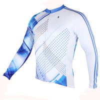 Men's Blue Long/short-sleeve Cycling Jersey with Patterns for Outdoor Sportswear Leisure Breathable Bike Shirt Bicycle Clothing NO.199 -  Cycling Apparel, Cycling Accessories | BestForCycling.com