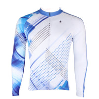 Men's Blue Long/short-sleeve Cycling Jersey with Patterns NO.199 -  Cycling Apparel, Cycling Accessories | BestForCycling.com