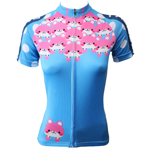 Ilpaladino Pink Pets  Women's Summer Short-Sleeve Cycling Jersey Summer Exercise Bicycling Pro Cycle Clothing Racing Apparel Outdoor Sports Leisure Biking Shirts Breathable Blue Clothes NO.501 -  Cycling Apparel, Cycling Accessories | BestForCycling.com