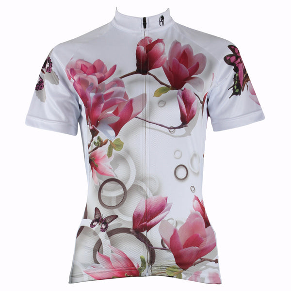 Ilpaladino Tulip Tree Summer Women's Short-Sleeve Cycling Jersey Biking Shirts Breathable Outdoor Sports Gear Leisure Biking T-shirt Sports Clothes NO.283 -  Cycling Apparel, Cycling Accessories | BestForCycling.com