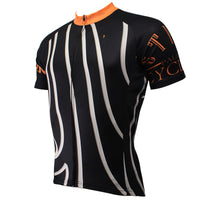 Orange-collar White-striped Black Men's Shirt Cycling Jersey Summer NO.504 -  Cycling Apparel, Cycling Accessories | BestForCycling.com
