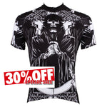 Men's Black Cycling Jersey Prayer Skull  NO. 516 -  Cycling Apparel, Cycling Accessories | BestForCycling.com