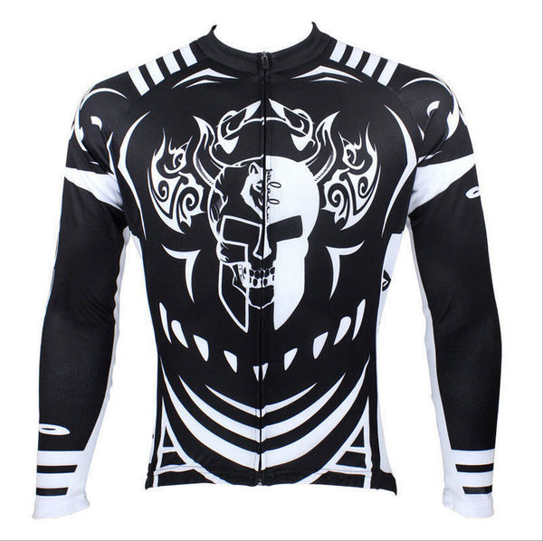 Hot Sale Cycling Jersey  Cycling Jersey Wholesale Outdoor Men's Long-sleeved Jersey for Spring and Summer Black and White Ultraviolet Resistant Fabric Outdoor Sportswear NO.077 -  Cycling Apparel, Cycling Accessories | BestForCycling.com