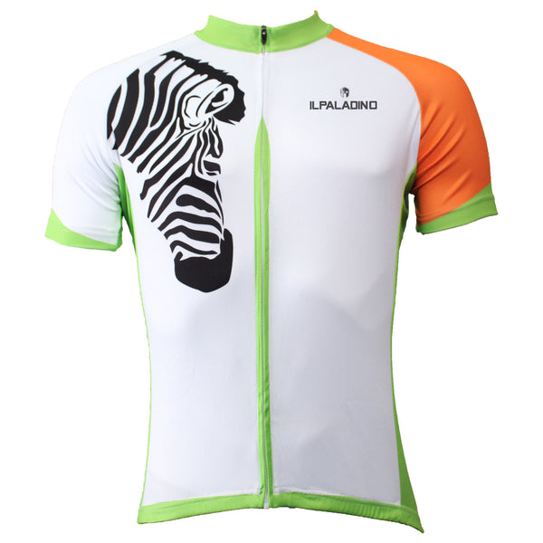 Ilpaladino Zebra Orange-arm Men's Breathable Short-Sleeve Cycling Jersey Bicycling Shirts Summer Sportswear Apparel Outdoor Sports Leisure Biking Shirt NO.502 -  Cycling Apparel, Cycling Accessories | BestForCycling.com