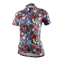 Ilpaladino Intricate Roses Patterned Women's Quick Dry Short-Sleeve Cycling Jersey Biking Shirts Breathable Summer Sport Wear NO.629 -  Cycling Apparel, Cycling Accessories | BestForCycling.com