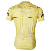Ilpaladino  Cyclist Yellow Men's Breathable Quick Dry Short-Sleeve Cycling Jersey Bicycling Shirts France Summer SportsWear NO.568 -  Cycling Apparel, Cycling Accessories | BestForCycling.com