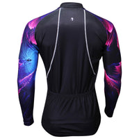 Purple Pink Cool Graphic Arm Men's Cycling Long-sleeve Black Jerseys NO.365 -  Cycling Apparel, Cycling Accessories | BestForCycling.com