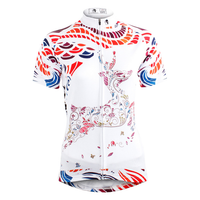 Ilpaladino Dreamy Elk White Women's Quick Dry Short-Sleeve Cycling Jersey Exercise Bicycling Pro Cycle Clothing Racing Apparel Outdoor Sports Leisure Biking Shirts  Breathable Summer Sportswear NO.583 -  Cycling Apparel, Cycling Accessories | BestForCycling.com