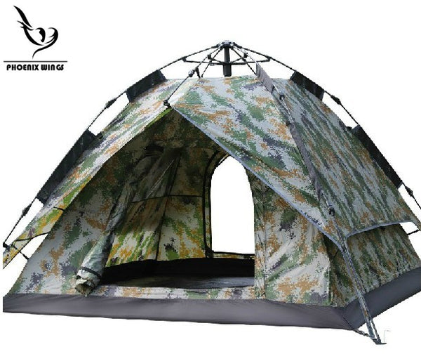 3-4 Person Automatically Instant Pop Up Family Camping Tent Waterproof Sun Shelter Shade Anti UV  Backpacking Tent for Outdoor Leisure Hiking Fishing Picnic Beach Bivouac field survival, Double-layer, Camouflaged -  Cycling Apparel, Cycling Accessories | BestForCycling.com