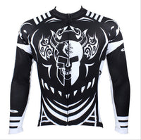 Cycling Jersey Men's Long-sleeved Jersey for Spring and Summer Black and White NO.077 -  Cycling Apparel, Cycling Accessories | BestForCycling.com