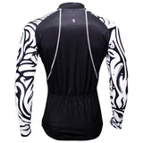 Sale Men's Long-sleeved Cycling Jersey for Winter Zebra Pattern Black Cycling Jersey Cycling Clothing Apparel Outdoor Sports Gear Leisure Biking Shirt (velvet) NO.371 -  Cycling Apparel, Cycling Accessories | BestForCycling.com