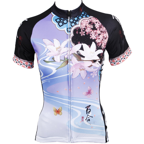 Ilpaladino Spring lily Women's Quick Dry Short-Sleeve  Cycling Jersey Bicycling Pro Cycle Clothing Racing Apparel Outdoor Sports Leisure Biking T-shirt  Breathable Summer Sportswear  NO.543 -  Cycling Apparel, Cycling Accessories | BestForCycling.com