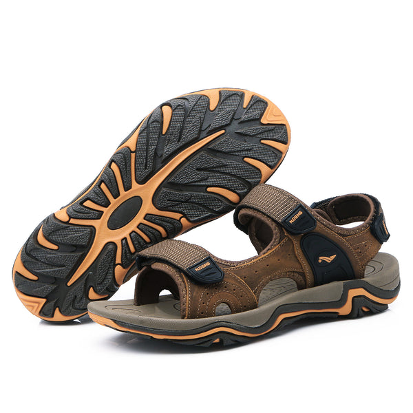 Outdoor Mens Cool Summer Beach Sandal Open-ToeLeather Casual Comfortable Open-Toe Flip Flops Fisherman  Breathable Strap Hiking Walking NO.1727 -  Cycling Apparel, Cycling Accessories | BestForCycling.com