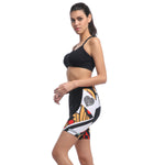 Women's Cycling Padded Shorts UPF 50+ Poker pattern Cycling Shorts 641