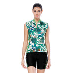 Tropical Plant Fresh Green Leaves Nordic Style Women's Cycling Sleeveless Bike Jersey /Kit T-shirt Summer Spring Road Bike Wear Mountain Bike MTB Clothes Sports Apparel Top / Suit  NO. 803 -  Cycling Apparel, Cycling Accessories | BestForCycling.com