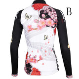Butterfly Cycling Jerseys Peach Blossom Butterfly With Flying Petal Women Cycling Jerseys 542 -  Cycling Apparel, Cycling Accessories | BestForCycling.com