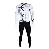 Popular Men's White Hidden-Zipper Long-sleeve Cycling Jersey with patterns for Outdoor Sport   Leisure Sport Breathable and Quick Dry Fall Autumn Bike Shirt Bicycle clothing 205 -  Cycling Apparel, Cycling Accessories | BestForCycling.com